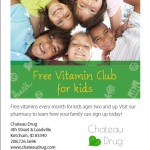 Chateau Drug Free Vitamin Club